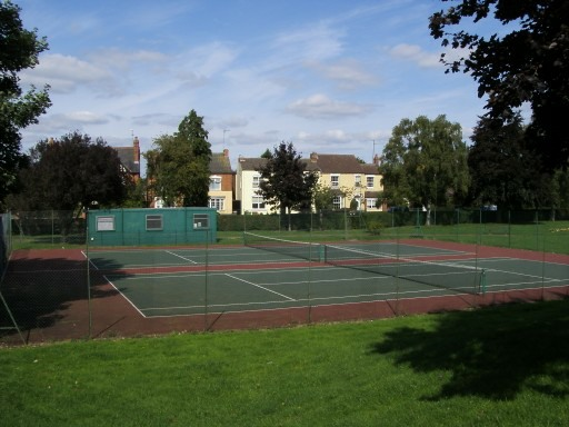 1. Tennis Courts in Banks Park, Finedon